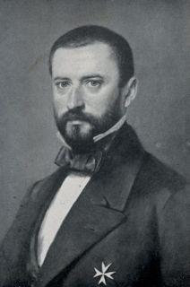 Portrait in Schwarz-weiß von Friedrich Albrecht Graf zu Eulenburg (1815–1881)