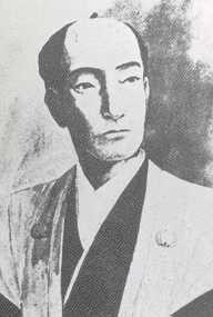 Schwarz-weiß Portrait von Andō Nobumasa