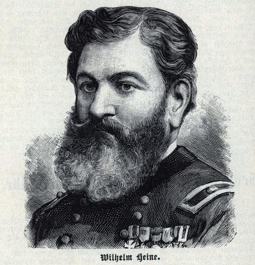 Portrait des Malers Wilhelm Heine mit Vollbart.
